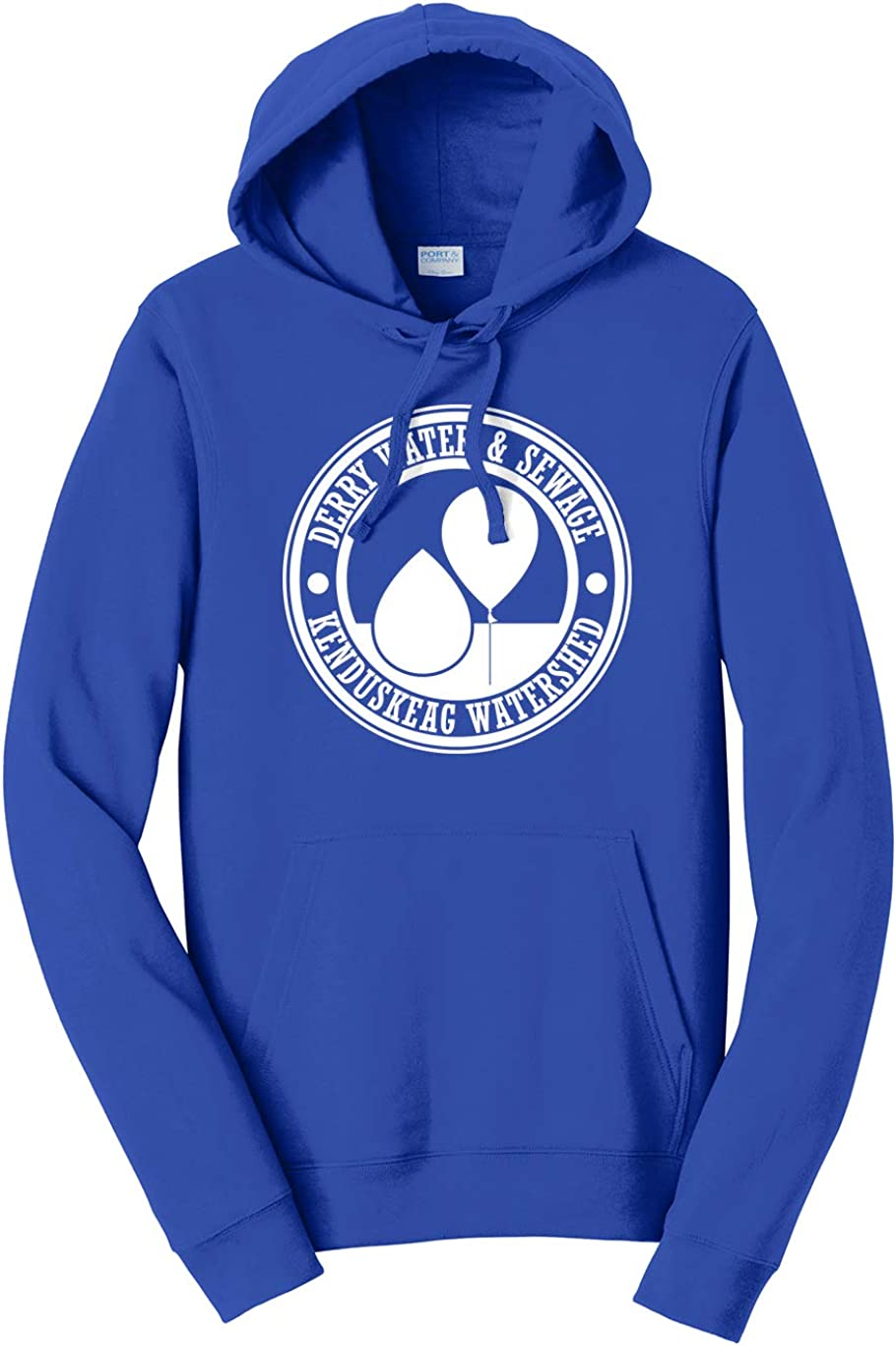 Tenacitee Mens Derry Water /& Sewage Hooded Sweatshirt