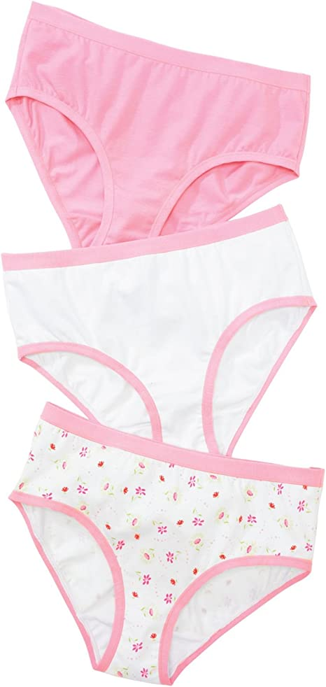 Underwear Ultimate Cotton Stretch Bikini 4-Pack Hanes Girls 7 Pick SZ//Color.