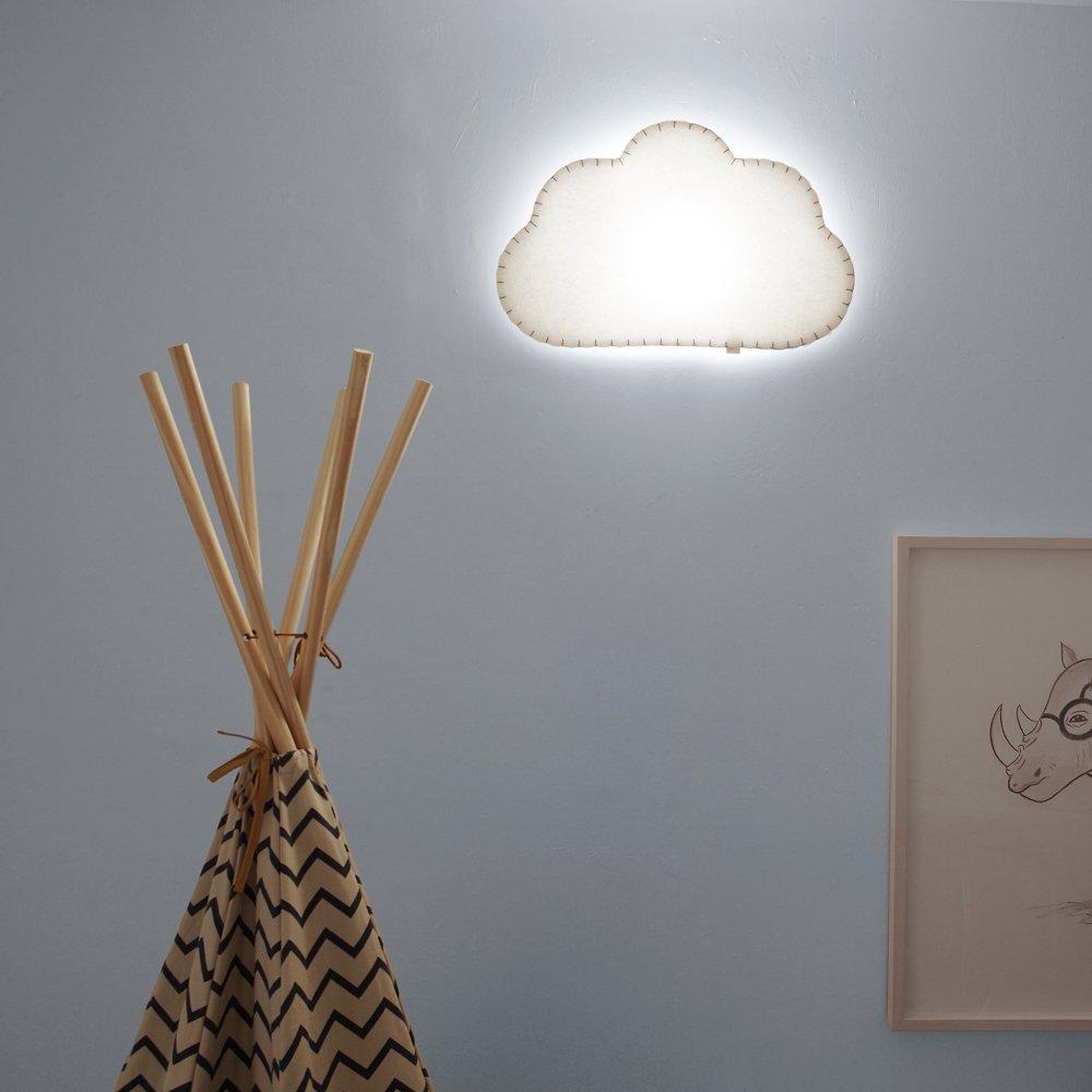5/W gris 53/x 8/x 34/cm Buokids Applique murale nuage G53