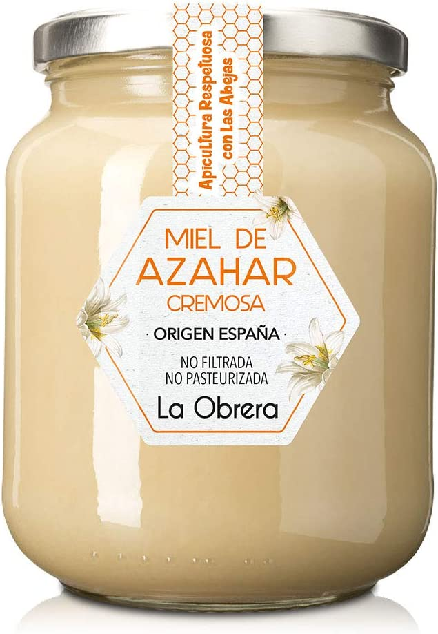 La Obrera - Miel Pura de Azahar en crema - 100% Origen España - 950 g: Amazon.es: Alimentación y bebidas