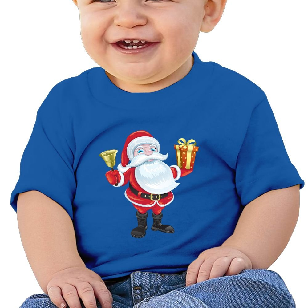 FFWWLHR Santa Claus Baby Short Sleeve Tees Unisex Cute Merry Christmas Cotton Baby Toddler Short Sleeve Tees