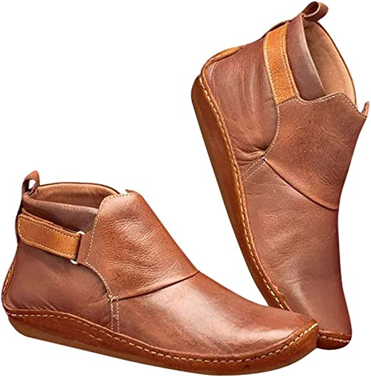 Aniywn Women's Vintage Leather Boots
