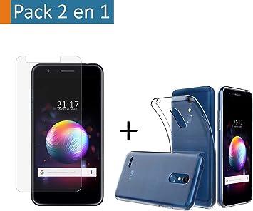 Tumundosmartphone Pack 2 en 1 Funda Gel Transparente + Protector ...