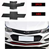 GEERUI Compatible with Front & Rear Black Bowtie Emblems,Steering Wheel Emblems for Chevrolet Cruze 2016-2018 (Front…