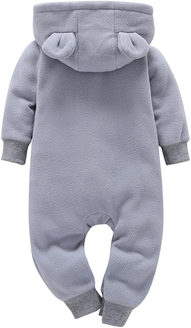 0-24 Monate Baby Herbst /& Winter Strampler Longra Baby Jungen M/ädchen Schneeanz/üge Fleece Overall mit Kapuze Unisex Baby Strampler Jumpsuit 65CM 6Monate, Gray