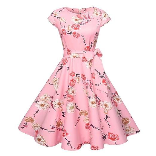 45a8d19ddb Women s Classy Audrey Hepburn 1950s Vintage Rockabilly Swing Dress A Line  Cap Sleeve Elegant Dresses (