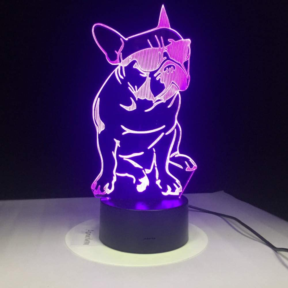 Zonxn Multi Dogs 3d Night Light Touch Switch 7 Color Changing Led Table Lamp 5v Usb Night Lights Home Decor Kids Toy Gift Amazon Com