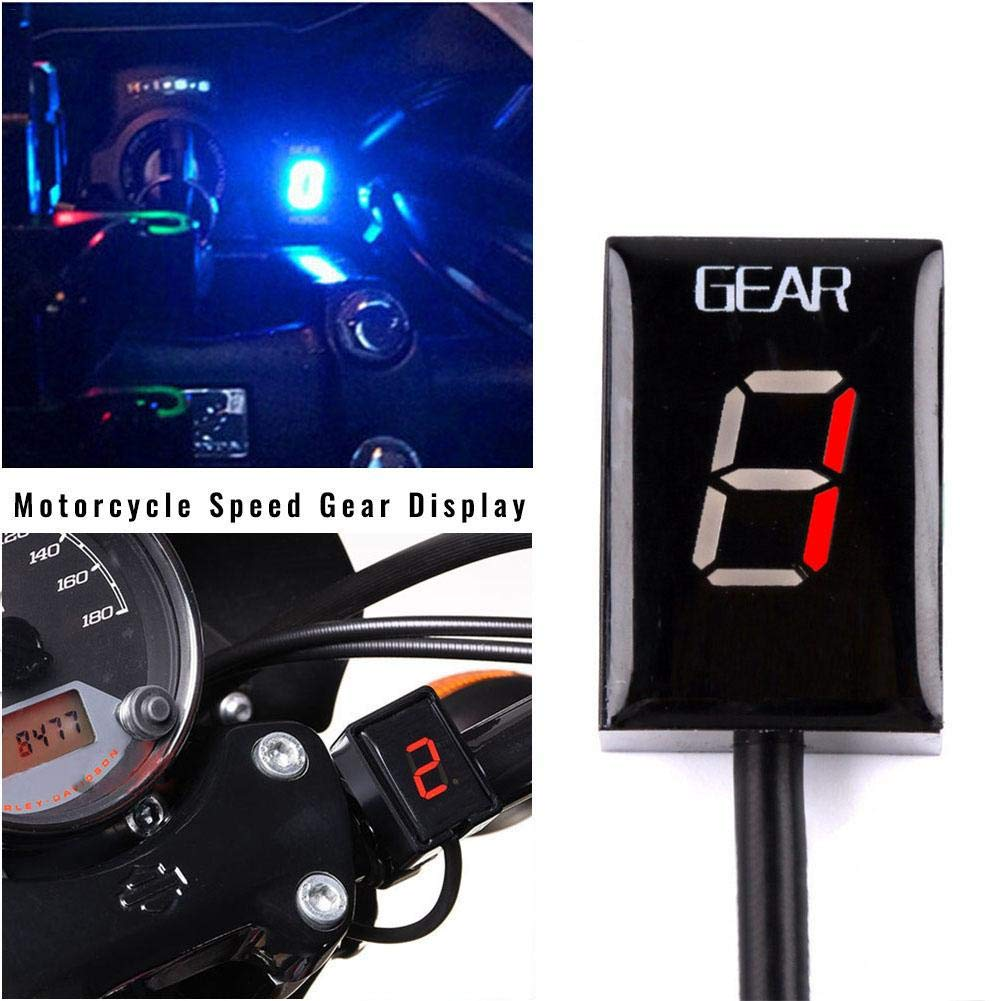 LED Display Waterproof Design Motorcycle Accessories 28x20x13mm Motorcycle Gear Indicator for Suzuki ECU Plug 1pcs Speed Gear Digital Display