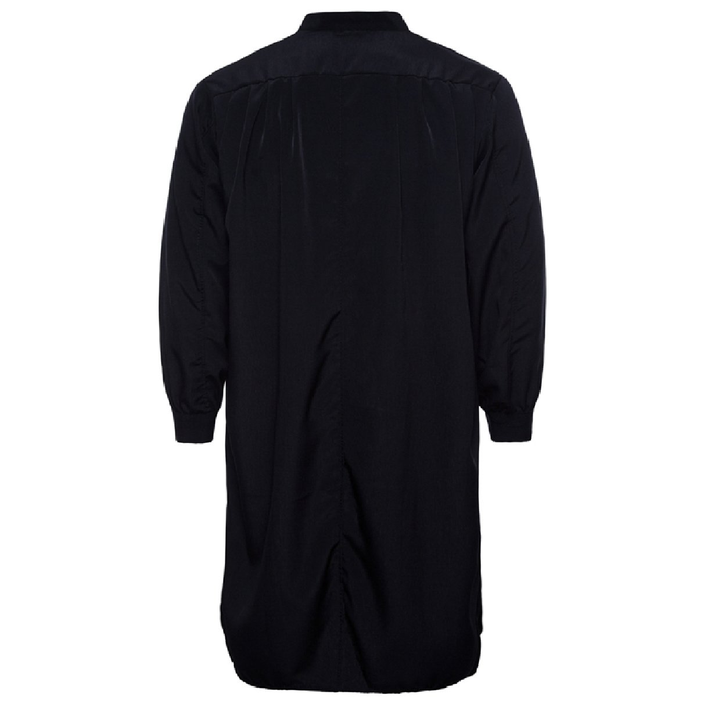 Abetteric Men's Pure Colour Cotton Islamic Muslim Dress Arab Middle Eastern Black L by Abetteric (Image #2)