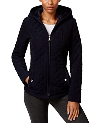 Laundry By Design Faux Fur Lined Hooded Quilted Jacket Black Xs At