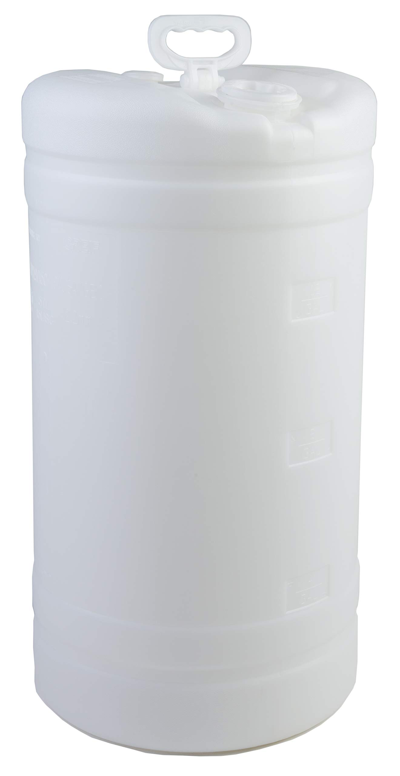 Hudson Exchange 15 Gallon Tight Head Drum with 2'' & 3/4'' Fittings, UN Rated, HDPE, Natural
