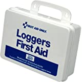 "Pac-Kit by First Aid Only 5217 85 Piece Weatherproof Plastic Loggers First Aid Kit, 6-1/2"" Length x 9-1/2"" Width x 2-3/4"" Height"