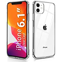 OULUOQI Compatible with iPhone 11 Case 2019, Shockproof Clear Case with Hard PC Shield+Soft TPU Bumper Cover Case for iPhone 11 6.1 inch.