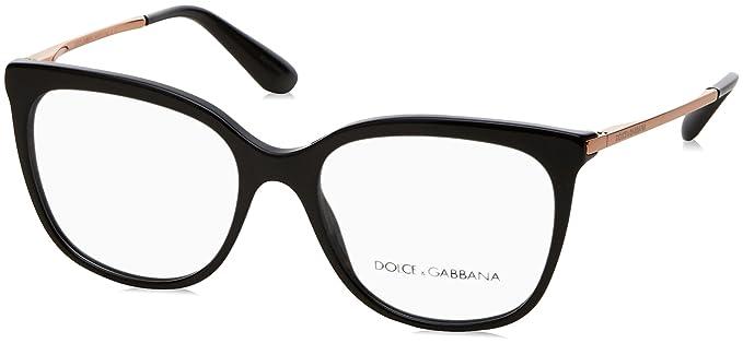 3c7b175540a Amazon.com  Dolce Gabbana DG3259 Eyeglass Frames 501-51 - Black ...