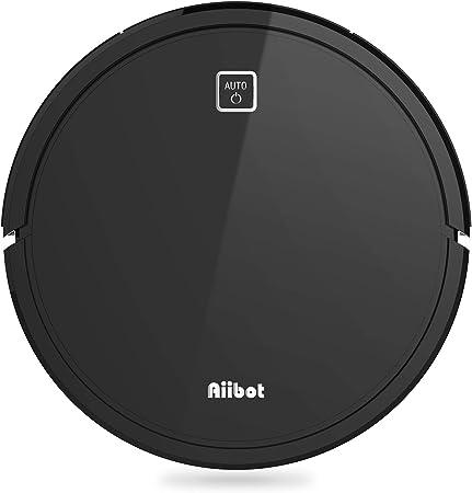 Aiibot Robot Aspirador para Suelo Duro/Alfombra/Pelo de Mascotas,Navegación Inteligente,Succión Potente,Sensor Anti-caída,Silenciosa,Carga Automática, (V9S-Black): Amazon.es: Hogar