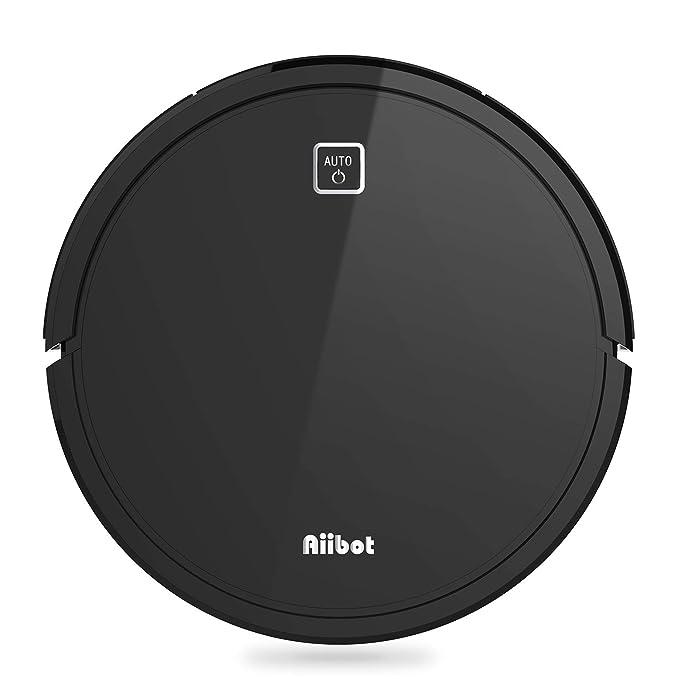 AIIBOT Robot Aspirador para Suelo Duro/Alfombra/Pelo de Mascotas,Navegación Inteligente,Succión Potente,Sensor Anti-caída,Silenciosa,Carga Automática, ...
