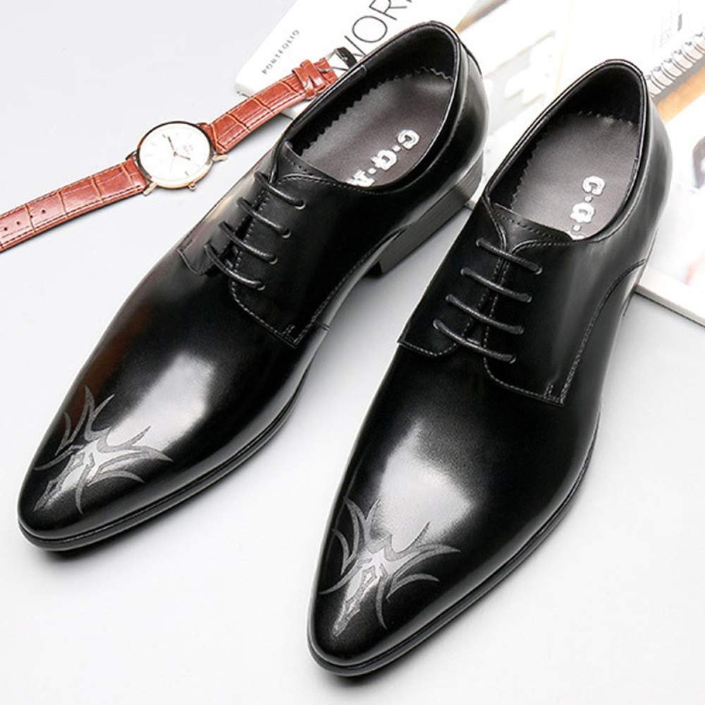 Oxford Schuhe Lace Herren Comfort Braun Business Lace Schuhe Up Lackleder Brogues Schuhe Spitzenkleid Schuhe Atmungsaktiv Hochzeitsschuhe schwarz f1a30d