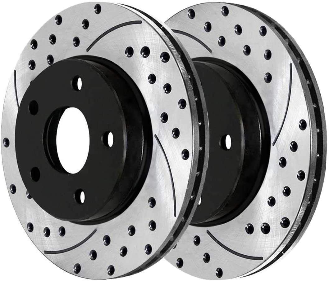Auto Shack PR41514LR Front Drilled and Slotted Brake Rotor Pair