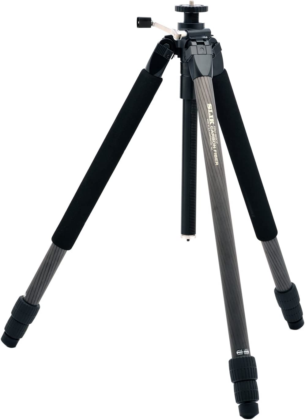 SLIK Pro 923 CF 3-Section Carbon Fiber Tripod, for Mirrorless/DSLR Sony Nikon Canon Fuji Cameras and More - Black (615-915)