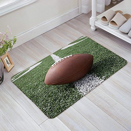 American Football Fabric Door Mat Rug Indoor/Outdoor/Front Door/Shower Bathroom Doormat, Non-slip Doormats, 18-Inch by 30-Inch