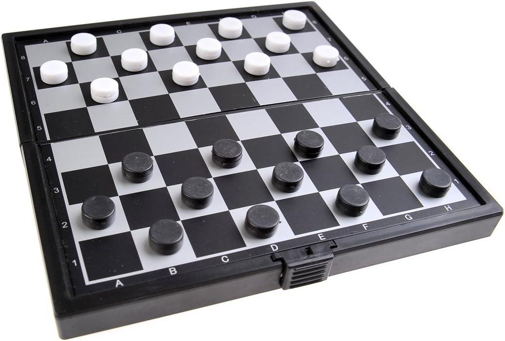 Quantum Abacus Juego de Mesa magnético (versión Super Mini de Viaje): Damas - Piezas magnéticas, Tablero Plegable, 12,8cm x 12,8cm x 1cm, Mod. SC3699 (DE): Amazon.es: Juguetes y juegos