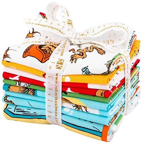 Dr. Seuss What Pet Should I Get? 8 Fat Quarter + 1 Panel Bundle Robert Kaufman Fabrics FQ-1147-9 (Fq Quilt Fabric)