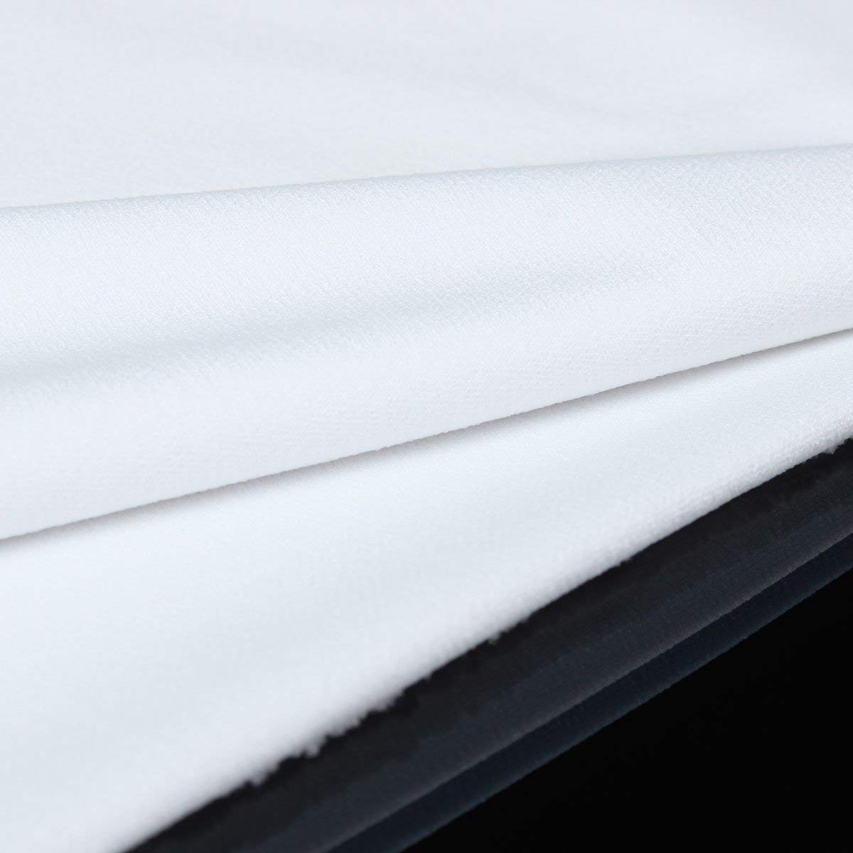 ChenXi Shop 1 pi/èce en tissu pour haut-parleur st/ér/éo Gille 2 m x 1,7 m Blanc noir