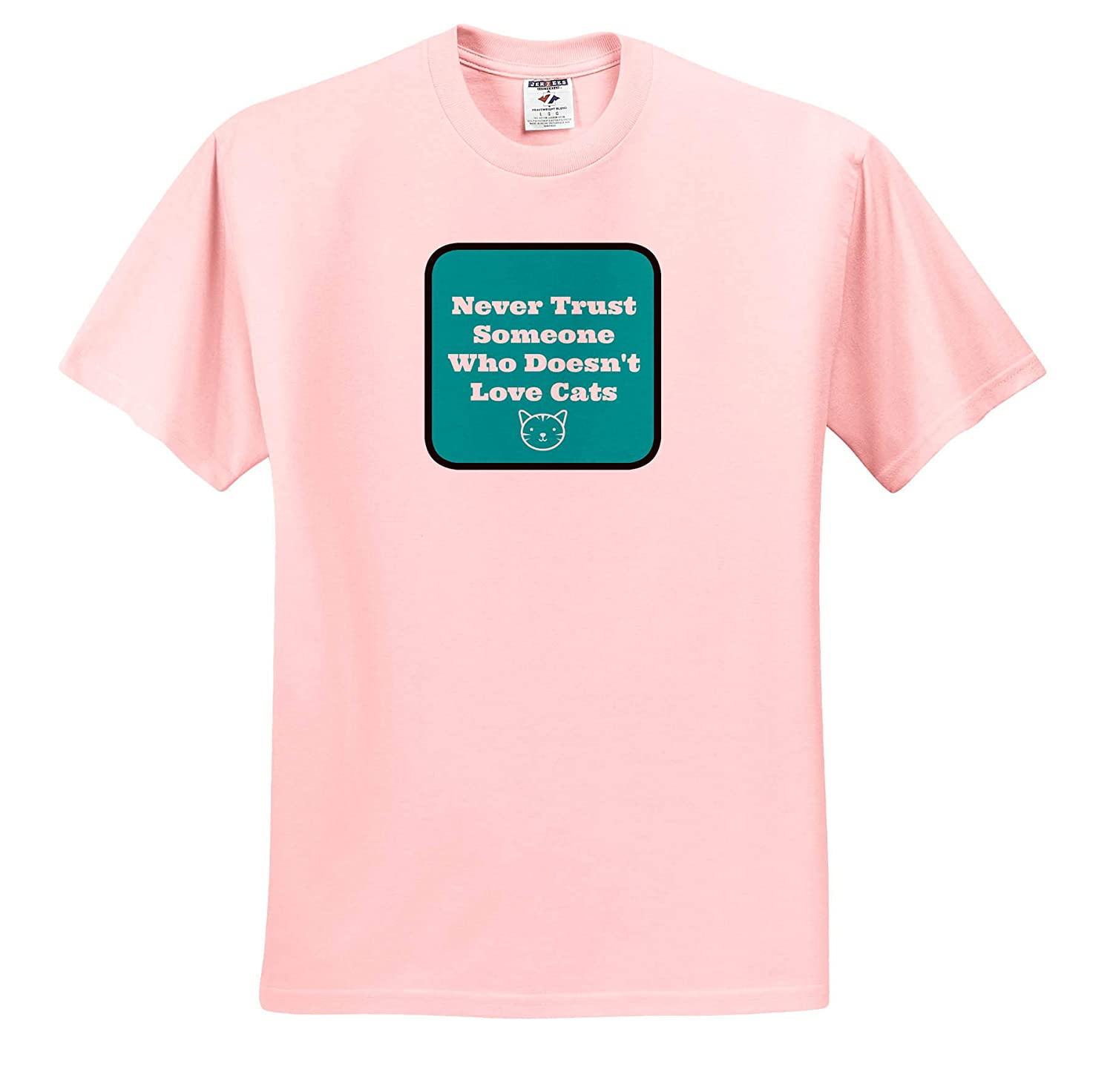 Image of Never Trust Someone Who Doesn/'t Love Cats ts/_312291 Adult T-Shirt XL 3dRose Carrie Merchant Quote