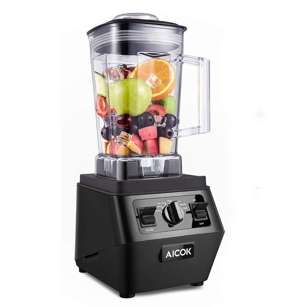 Blender, AICOK Professional Countertop Blender, 35000RPM High Speed Smoothie Blender 1400W Strong Power Commercial Blender for Ice, Soup and Coffee, Auto&Manual Setting Modes, Dishwasher Safe 70oz BPA-Free Jar