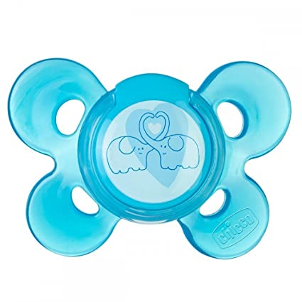 Chicco 00074913210000 Comfort - Chupete de silicona para 6 - 16 meses, color azul, 1 unidad, modelo surtido