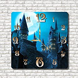 Harry Potter - Hogwarts 11.8'' Handmade Wall Clock - Get unique décor for home or office – Best gift ideas for kids, friends, parents and your soul mates