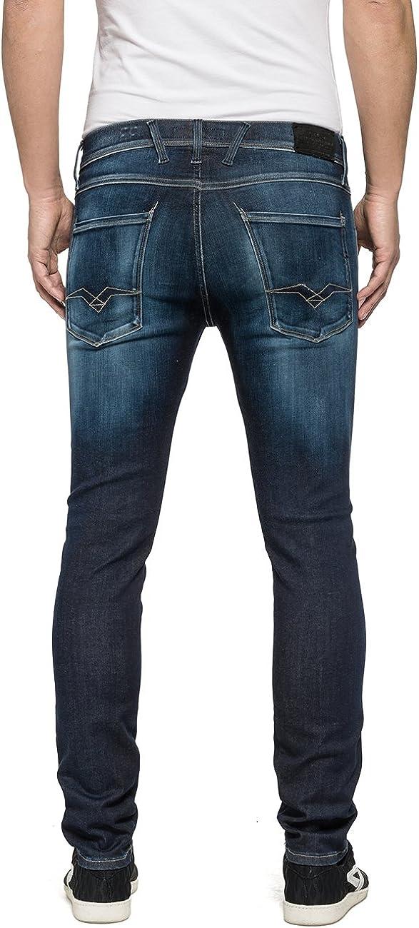 Replay Men's Anbass Slim Jeans Blue (Blue Denim 9)