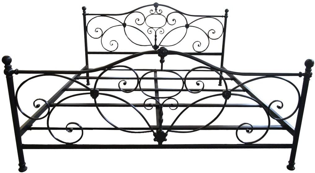 Christopher Knight Home San Luis King Charcoal Iron Bed