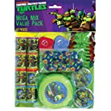"""Amscan Awesome TMNT Mega Mix Birthday Party Favors Value Pack (48 Piece), 11.3 x 8.3"""", Multi"""