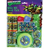 ninja turtles gifts - Amscan Awesome TMNT Mega Mix Birthday Party Favors Value Pack (48 Piece), 11.3 x 8.3