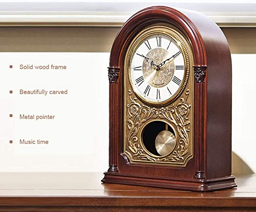 WANNA.ME Reloj de sobremesa de péndulo, Reloj de Mesa de ...