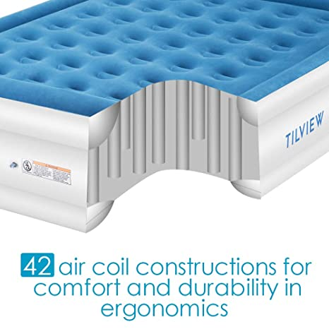 Tilview Twin Size Air Mattress Raised Air Bed Blow Up Elevated