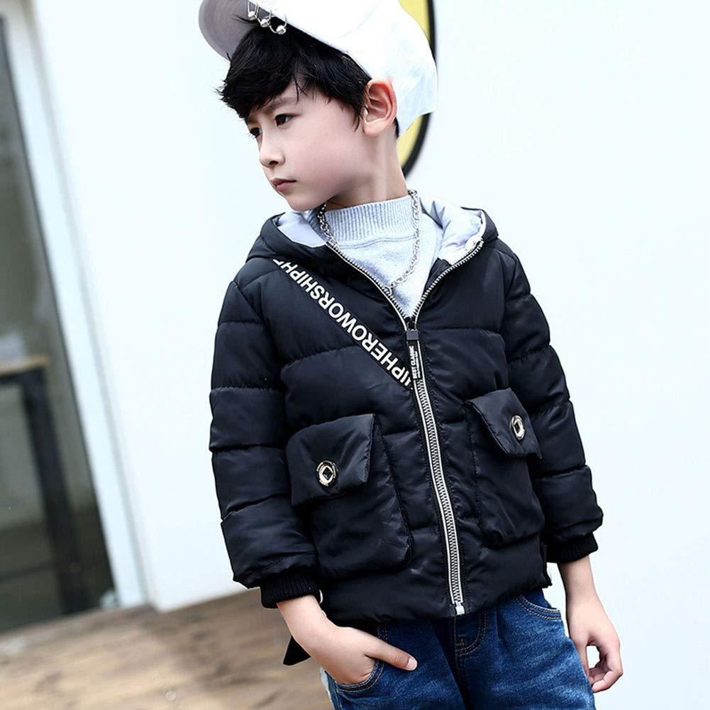 LSERVER Winter Kinderkleidung Cartoon Rucksack Kinder Daunenjacke Baby Baumwolle Mantel