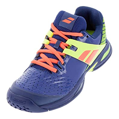fcfe8a4378a01 Babolat Chaussures de Tennis Propulse All Court Junior 32s19478 bleu jaune -36