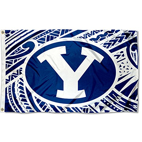 College Flags and Banners Co. Brigham Young Cougars Samoan Pattern - Home Cougars Byu Office