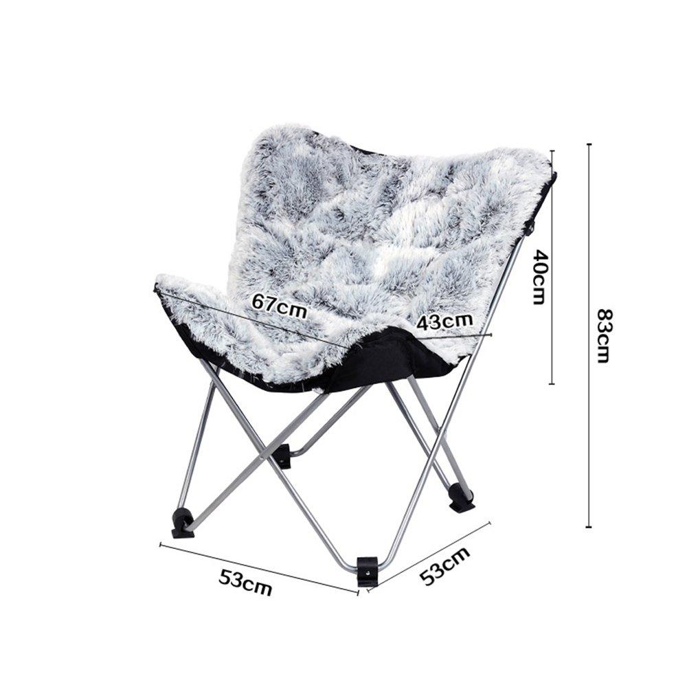 GHM Campingstuhl Butterfly Chair Einfache Freizeit Klappstuhl Liege Sofa Chair Lounge Stuhl Moon Chair
