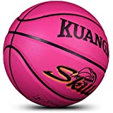 "Kuangmi Multi-color Basketball for Junior Kids Child Boys Girls Size 5 27.5"" (Pink)"