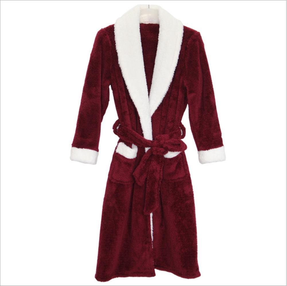 DMMSS Donne corallo velluto camicia da notte Robes pigiami autunno e l'inverno , blue women , l