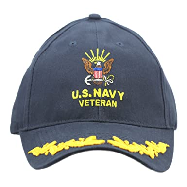 Image Unavailable. Image not available for. Color  United States Navy  Veteran Hat with Scrambled Eggs For Men Women ... b56d7b351823