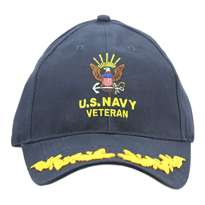 2ab01149dbd Image Unavailable. Image not available for. Color  United States Navy Veteran  Hat with Scrambled Eggs ...