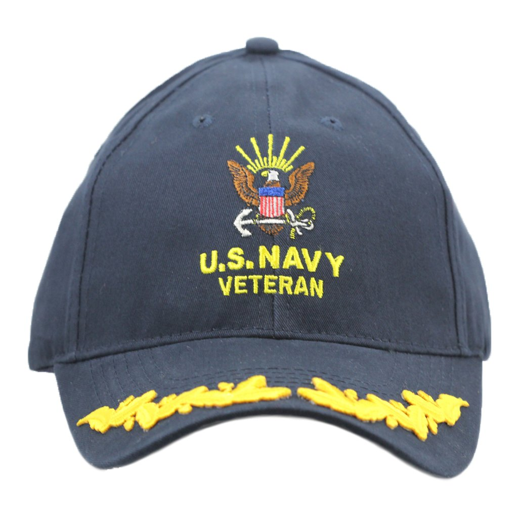 United States Navy Veteran Hat with Scrambled Eggs For Men Women, Military Gifts