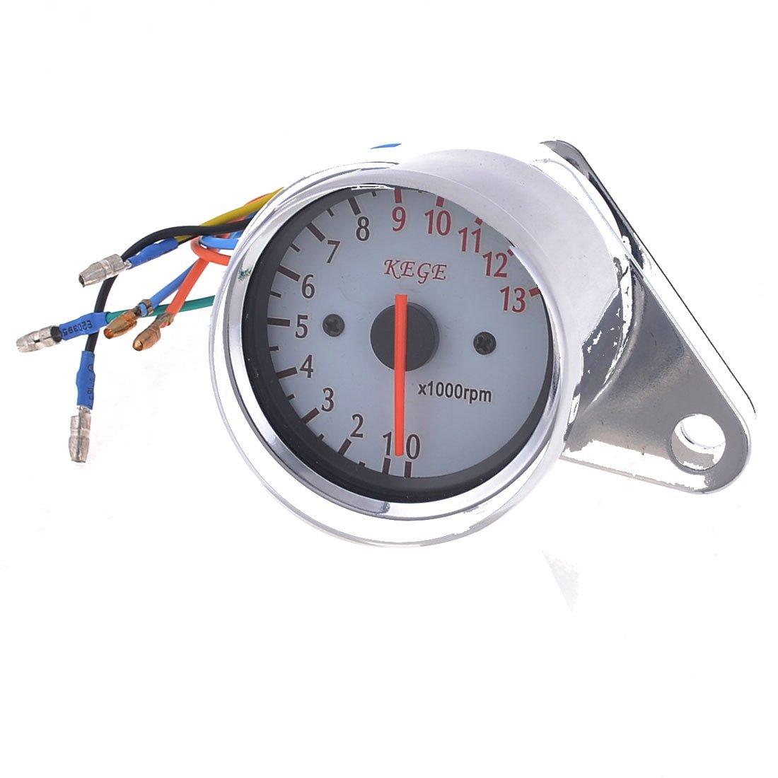 uxcell Car Motorcycle Mechnical 0-13000RPM Tachometer Gauge Meter DC 12V