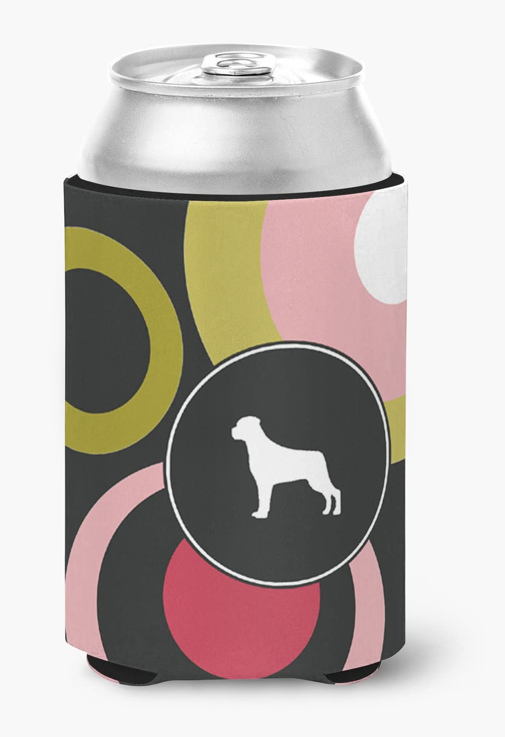 Caroline's Treasures KJ1091CC Rottweiler Can or Bottle Beverage Insulator Hugger, Can Hugger, multicolor