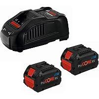 Bosch Professional 1600A01C4K Conjunto Power Set, 2 Baterías ProCORE de 8,0 Ah, Cargador GAL 1880 CV, Caja de cartón…