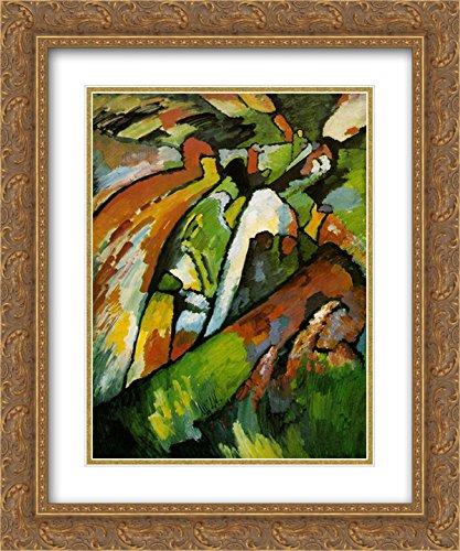 Wassily Kandinsky 2x Matted 20x24 Gold Ornate Framed Art Print 'Improvisation 7' 7' Matted Print